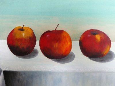 stilleven fruit in acrylverf