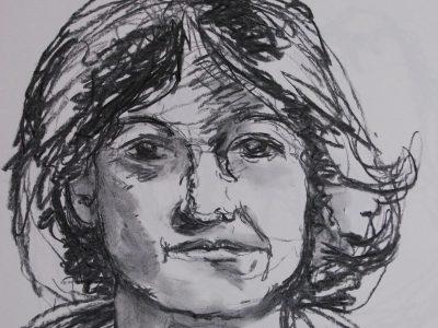 portretstudie houtskool