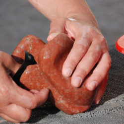 beeldhouwen in steen