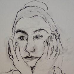portret en model