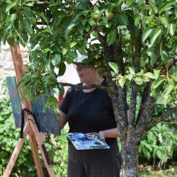 schilderen onder de boom