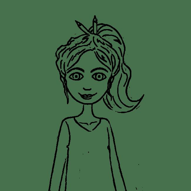 delphine roche jayr illustration en self portrait