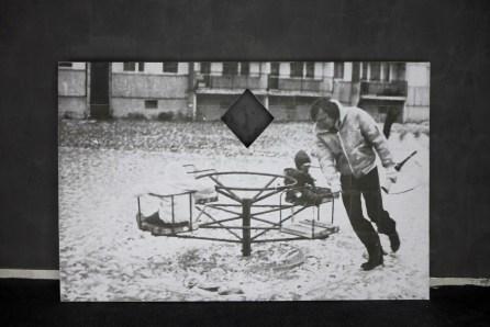 Karolina Kazmierska / Sans titre / placo plâtre découpé, tirage jet d'encre sur feuilles A4 / 2014