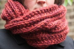 super chunky infinity scarf wrapped twice