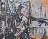 Saxophoniste à Brooklyn