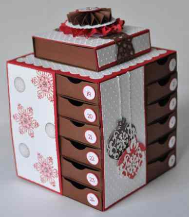Calendrier de l'avent Scrap Stampin up 2011 1
