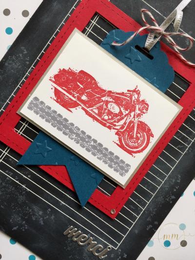 Carte de remerciement maître d'école tableau noir One wild ride par Marie Meyer Stampin up - http://ateliers-scrapbooking.fr/