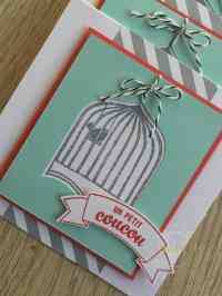 Cartes de remerciements Badges et insignes par Marie Meyer Stampin up - http://ateliers-scrapbooking.fr/ - Badges & Banners Stamp - Stempelset Gut gewappnet