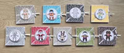 Tutoriel carte tri fold Emporte pièce de Noël et Cookies Cutter Halloween par Marie Meyer Stampin up - http://ateliers-scrapbooking.fr/ - Cookie Cutter Christmas Stamp Set - Ausgestochen Weihnachtlich Stamp Set