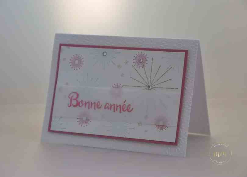 Carte de bonne année Fêtons les Fêtes par Marie Meyer Stampin up - http://ateliers-scrapbooking.fr/ - It's a celebration Stamp - Es Wird Gefeiert Stempel