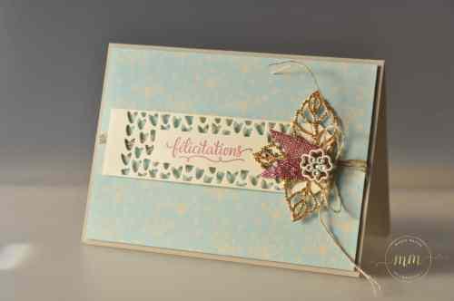 Stampin up - Carte félicitation de mariage -Thinlits En details - Thinlits So Detaled - Thinlits Liebe zum Detail