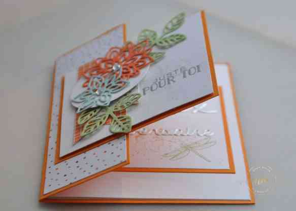 Cartes doubles faces Thinlits en Fleurs, Papier Design Nuit de l'Halloween par Marie Meyer Stampin up - http://ateliers-scrapbooking.fr/ - Flourish Thinlits - Thinlits Blütenpoesie