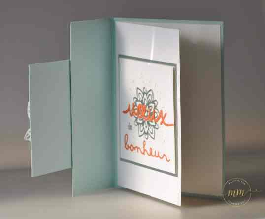Carte double face félicitations de mariage Thinlits En fleurs par Marie Meyer Stampin up - http://ateliers-scrapbooking.fr/ - Flourish Thinlits - Thinlits Blütenpoesie