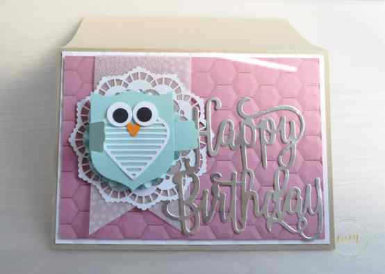 Carte d'anniversaire Thinlits Happy Birthday par Marie Meyer Stampin up - http://ateliers-scrapbooking.fr/ - Birthday card - Best Badge Punch - Happy Birthday Thinlits - Geburtstags karte - Wappen Stanzen - Happy Birthday Thinlits