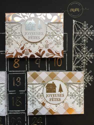 Mini calendrier de l'avent de poche Les joies de l'hiver, Boîtes, Boîtes à gourmandises, Boîtes cadeaux, Calendriers de l'Avent, Planche insta enveloppes, Set de tampons Souhaits en rafales, Stampin up, Thinlits Flocons virevoltants, Tutoriels, Papier de la série Design Spécialité Les joies de l'hiver par Marie Meyer Stampin up - http://ateliers-scrapbooking.fr/ - Advent calendar Year of Cheer Specialty, box, Envelope Punch Board, Hearts Come Home Stamps, Swirly Snowflakes Thinlits Dies, Year of Cheer Specialty Designer Series Paper, Tutorial -Adventskalender Winterfreuden, Stanz- und Falzbrett für Umschläge, Weihnachten daheim Stampel, Thinlits Formen Flockenreigen, Besonderes Designerpapier Winterfreuden, Anteilung