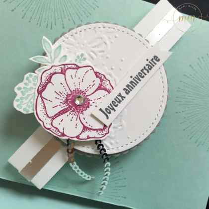 Pochette anniversaire Simplement formidable et son tutoriel, Framelits Forme à coudre, Framelits Pyramide de cercles, perforatrice cercle, perforatrice Etiquette en fanion, Sale a bration, Set de tampons Simplement formidable, Thinlits Tu es formidable par Marie Meyer Stampin up - http://ateliers-scrapbooking.fr - Happy birthday wallet, Amazing You stamp set, Stitched Shapes Framelits, Layering Circles Framelits, Circle Punch, Banner Triple Punches, Celebrate you Thinlits - Geburtstagswünsche Brieftasche, Einfach Wunderbar , Framelits Stickmuster, Framelits Langeweise Kreise, Kreis und Fähnchen, dreifach einstellbar Stanzen, Wunderbar Thinlits