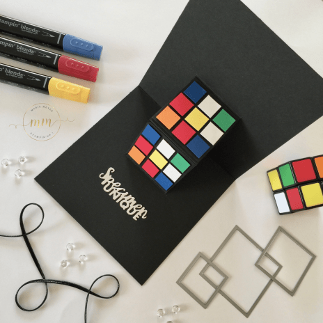 CARTE ANNIVERSAIRE POP UP RUBIK S CUBE 2018 6