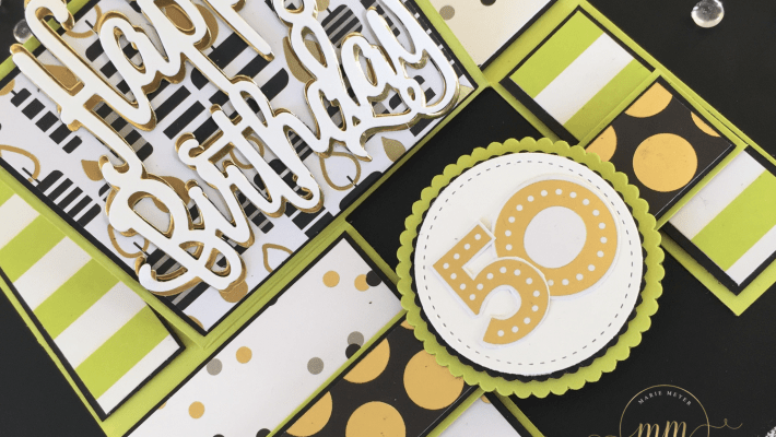 Tutoriel carte impossible, cartes pop up, Framelits à coudre, Framelits Pyramide de cercles, Papier Design Spécialité Digne de Broadway, Thinlits Happy Birthday par Marie Meyer Stampin'up - http://ateliers-scrapbooking.fr - Impossible Card Tutorial, Stitched Shapes Framelits, Layering Circle Framelits, Broadway Bound Speciality Designer Series Paper - Anleitung Impossible-Karte, Framelits Formen Stickmuster, Framelits Formen Lagenweise Kreise, Besonderes Designerpapier Broadway