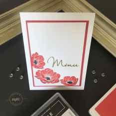 Cartes de menu Noce d'or Essence Florale 2019 3