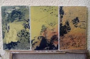 Hommage à Bashô - triptyque - papier