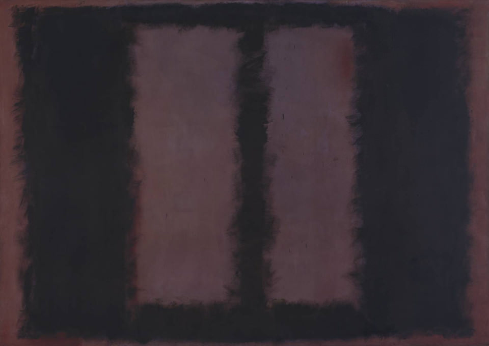 Black on Maroon 1958 by Mark Rothko 1903-1970