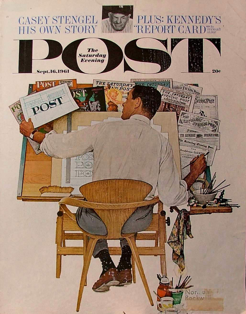 cherner-chair-Rockwell-The-Artist-at-Work-1961