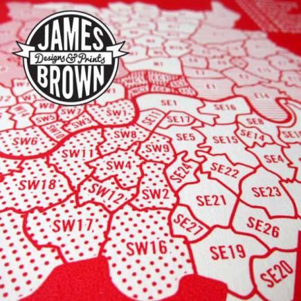 james brown london print detail