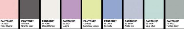 C'est la couleur que j'préfère: pour avril, le Rose Quartz et le Bleu Serenity