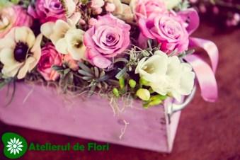Cutie cu flori de primavara