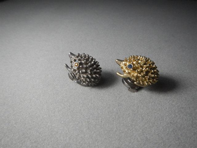 HB ハリネズミ Hedgehog ヘッジホッグ 動物シリーズ ブローチ ピンブローチ アトリエnest 熊本市