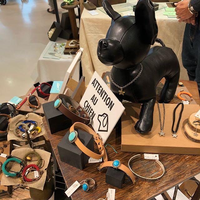 Allons-y!首輪、犬の首輪、アトリエ・nest 、ラスティックマーケット、阪神百貨店、