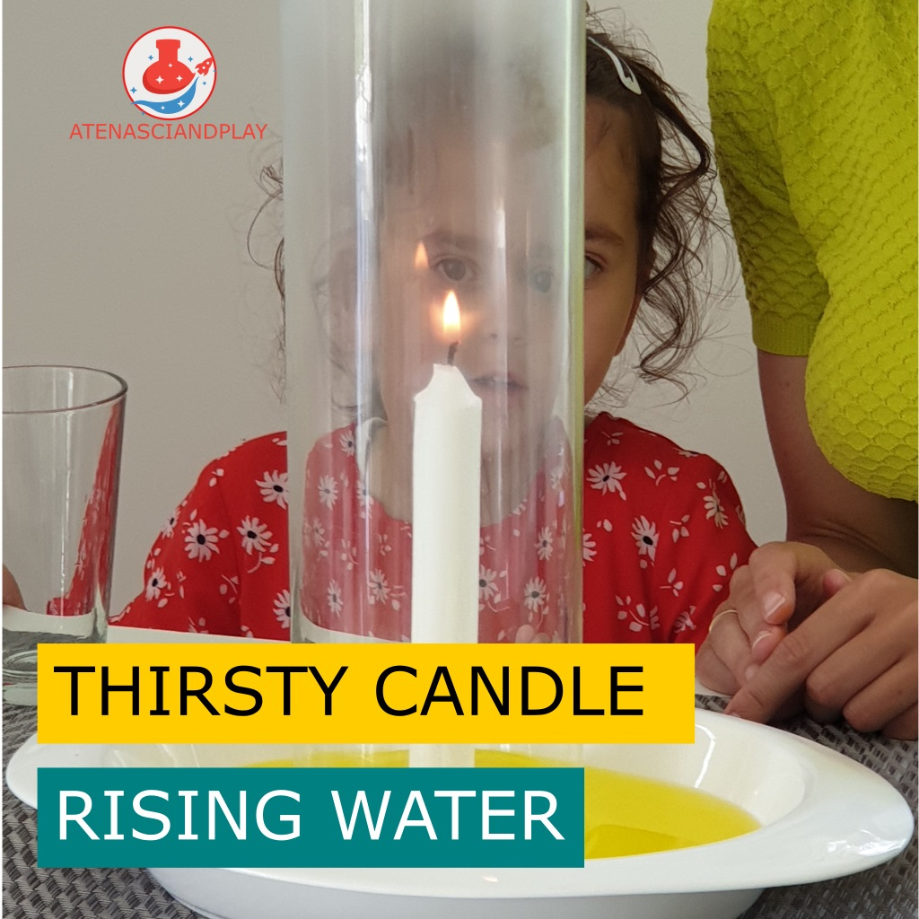 Burning Candle, Rising Water, thirsty candle