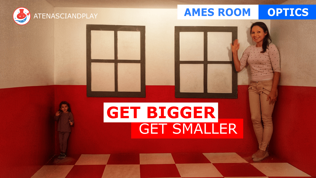 Ames room illusion. Free Ames Room Template!