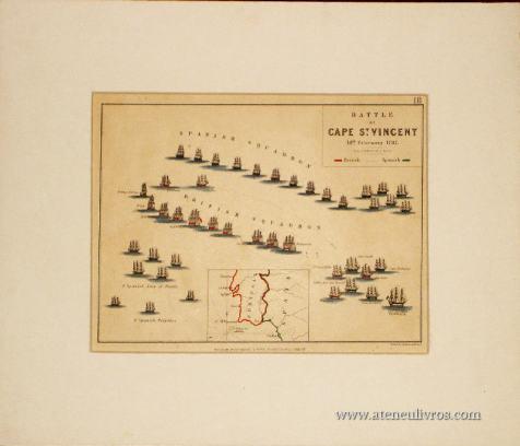 Batalha do Cabo de São Vicente - 14 de Fevereiro de 1797 Sobre a Esquadra Espanhola e Britânica «€35.00»