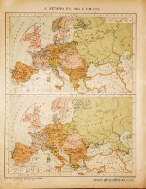 A Europa em 1812 e em 1815 «€5.00»