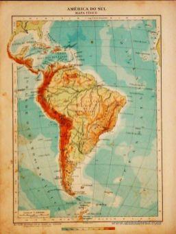América do Sul - Mapa Físico «€5.00»