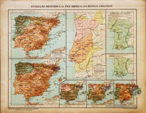 Evolução Histórica da Pen. Ibérica os Reinos Cristãos «€5.00»