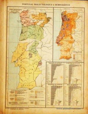 Portugal Dialectologico e Demográfico «€5.00»