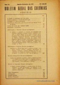 Boletim Geral das Colónias – Ano 13.ª – Agosto/Setembro de 1937 – N.º 146/147 – Agencia Geral das Colónias – Lisboa – 1937. Desc. 223 pág. / 22,5 cm x 16 cm / Br «€12,50»