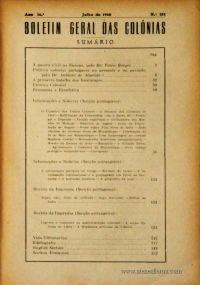 Boletim Geral das Colónias – Ano 16.ª – Julho de 1940 – N.º181 – Agencia Geral das Colónias – Lisboa – 1940. Desc. 154 pág. / 22,5 cm x 16 cm / Br «€12,50»