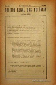Boletim Geral das Colónias – Ano 20.ª – Fevereiro de 1944 – N.º224 – Agencia Geral das Colónias – Lisboa – 1944. Desc. 142 pág. / 22,5 cm x 16 cm / Br «€12,50»