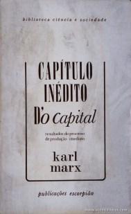 Karl Marx - Capital Inédito D'o Capital - «€5.00»