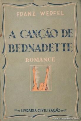 Franz Werfel - A Canção de Bernadette «€5.00»