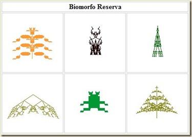Distintos tipos de Biomorfos