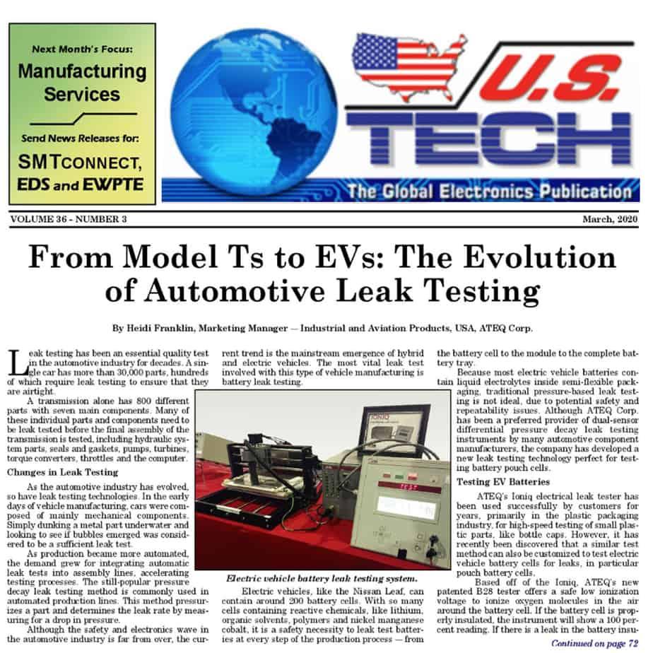 leak testing EV batteries