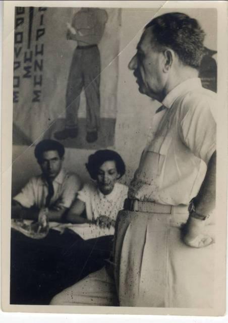 31 Αυγούστου 1952. Ο Στέφανος Σαράφης ομιλητής στην πρώτη Συνδιάσκεψη της ΕΔΝΕ στα γραφεία της ΕΔΑ Πηγή: ΑΣΚΙ (Αρχεία Σύγχρονης Κοινωνικής Ιστορίας)