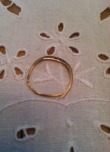 What 50 years of hard work can do to a wedding ring.