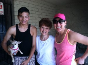 Me, Henry, and (I think) his aunt, plus Chihuahua.