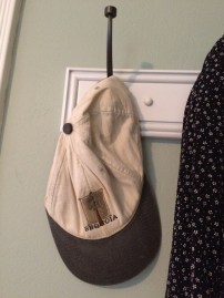 Dad's hat on my hook at home