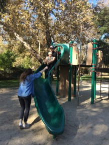 Esther and B on slide.JPG